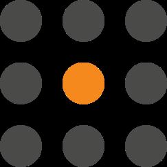 Círculos representando os módulos
