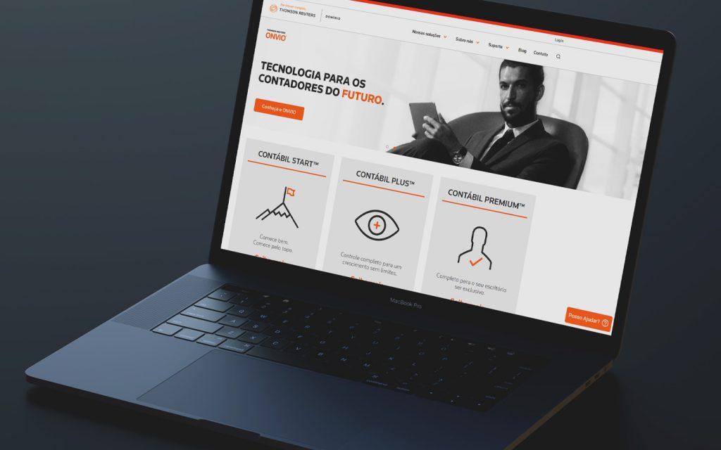 Computador acessando o futuro da contabilidade